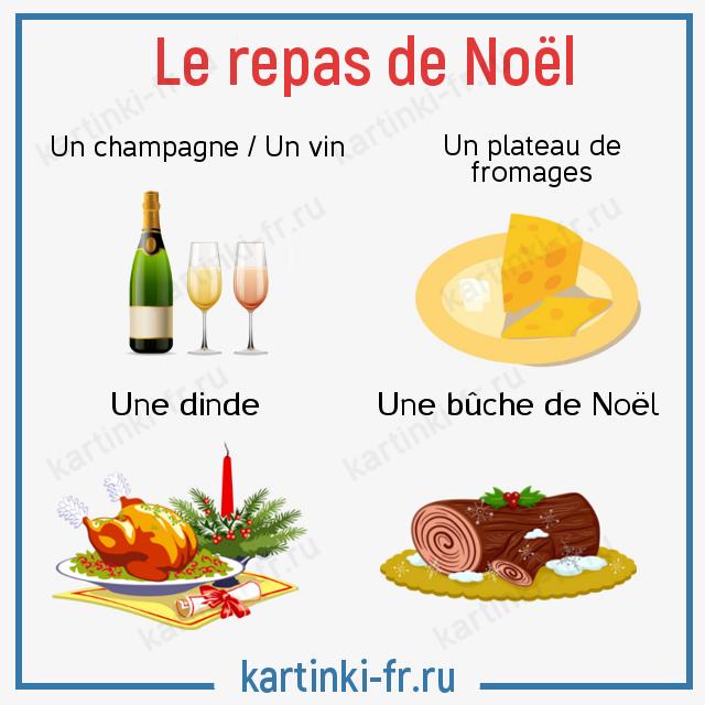 Лексика Рождественская еда на французском