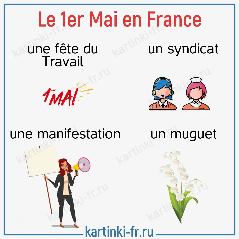 Первое мая во Франции - лексика