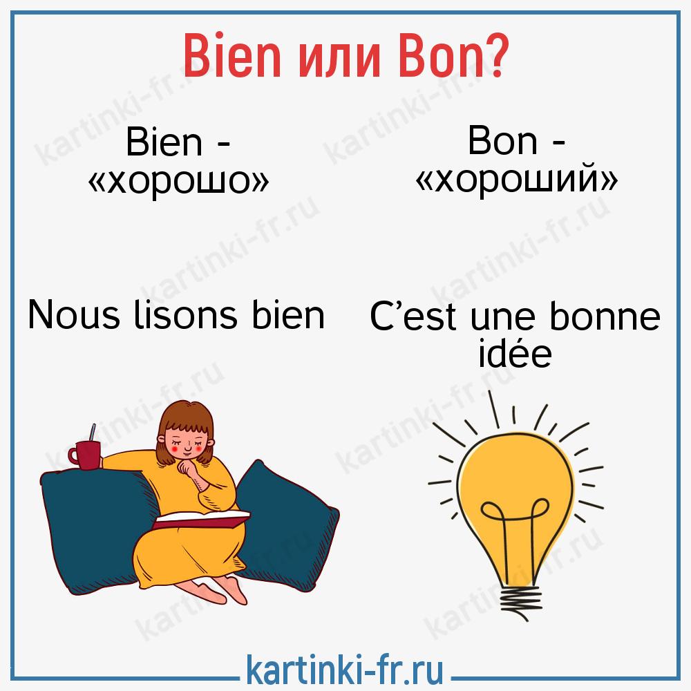 Bien или bon во французском предложении