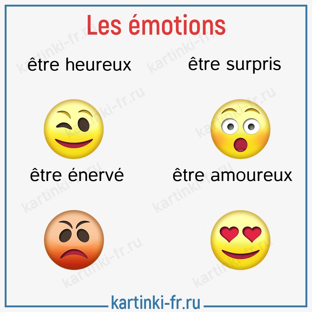 Эмоции на французском языке