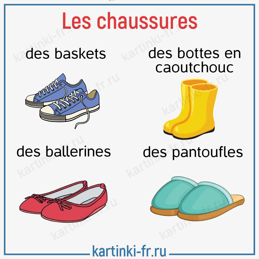 Обувь на французском языке