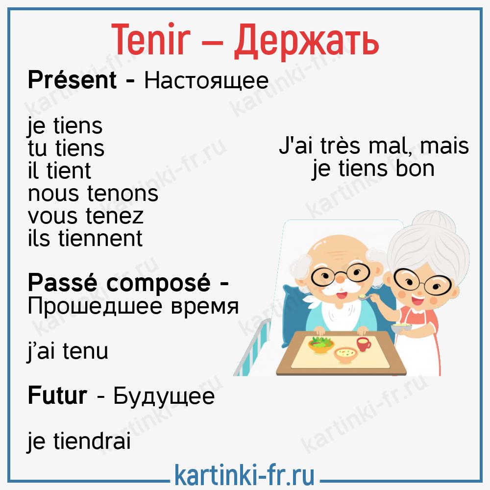 Tenir - спряжение глагола во французском языке