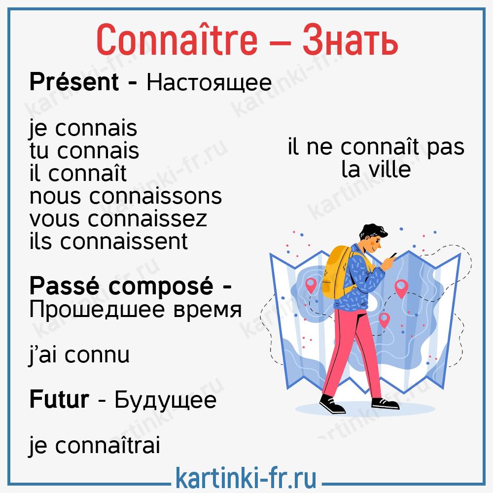 Французский глагол connaître