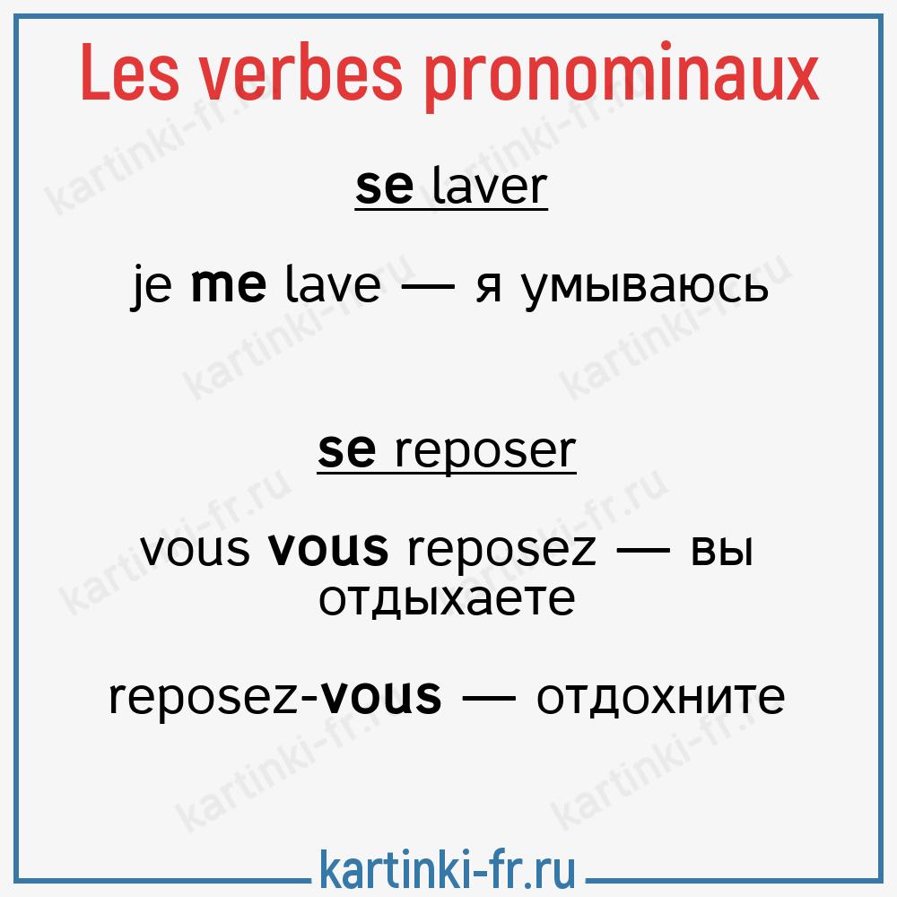 Возвратные французские глаголы