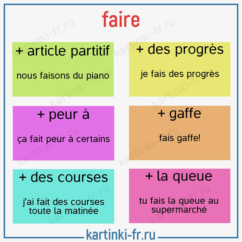 выражения с глаголом faire