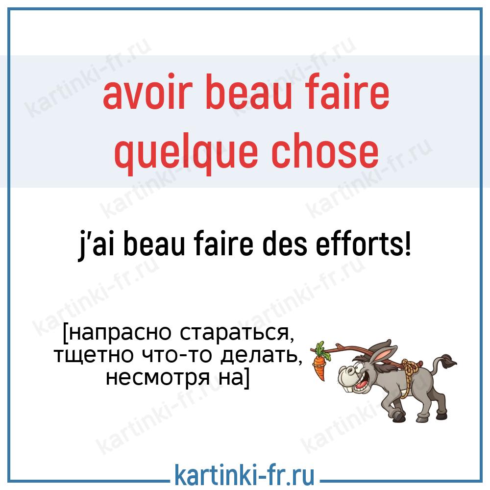avoir beau faire на французском